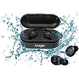 Bluetooth イヤホン 完全ワイヤレスイヤホン 防水 高音質ワイヤレススポーツイヤホン 運転 運動 シャワーなどに適用 日本語と英語説明書付き 防水進化版 IPX8対応 (両耳)