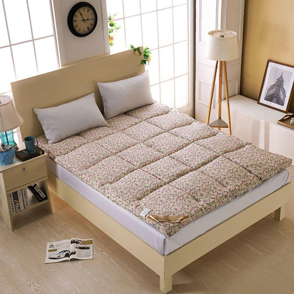 SL&CL Tatami Mattress Mattress,Feather Velvet Mattress, 5cm Foldable Tatami Student Double Sleeping mat Bed Mattress pad for Hotel and Outdoor-G 90x200cm(35x79inch)