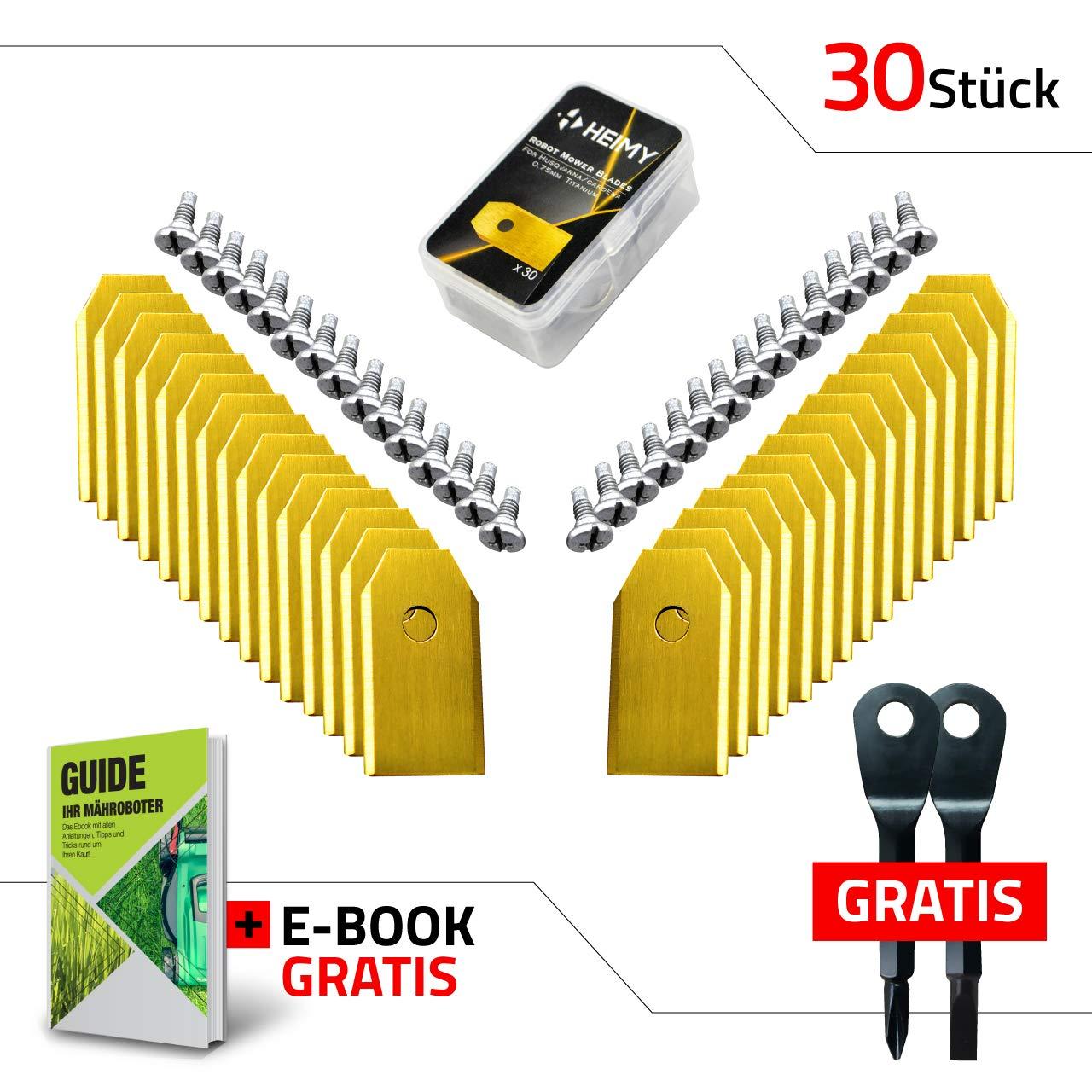 para modelos de Husqvarna Automower Cuchilla de repuesto para cortac/ésped cuchillas de titanio universales con tornillos