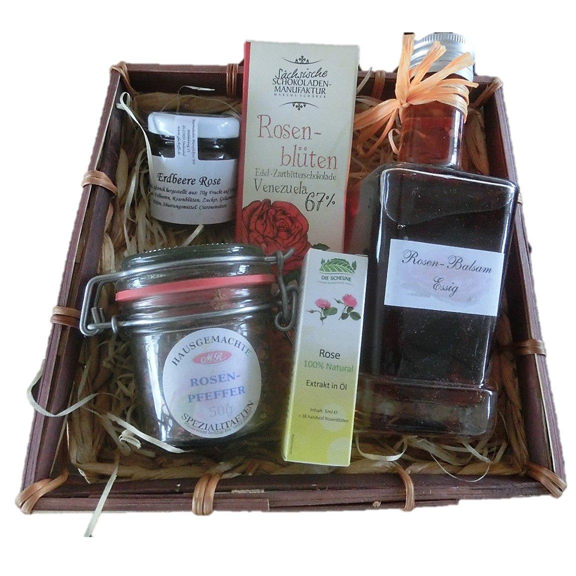 Geschenk für Frauen - Rosen Bouquet mit Rosen-Balsam-Essig ...