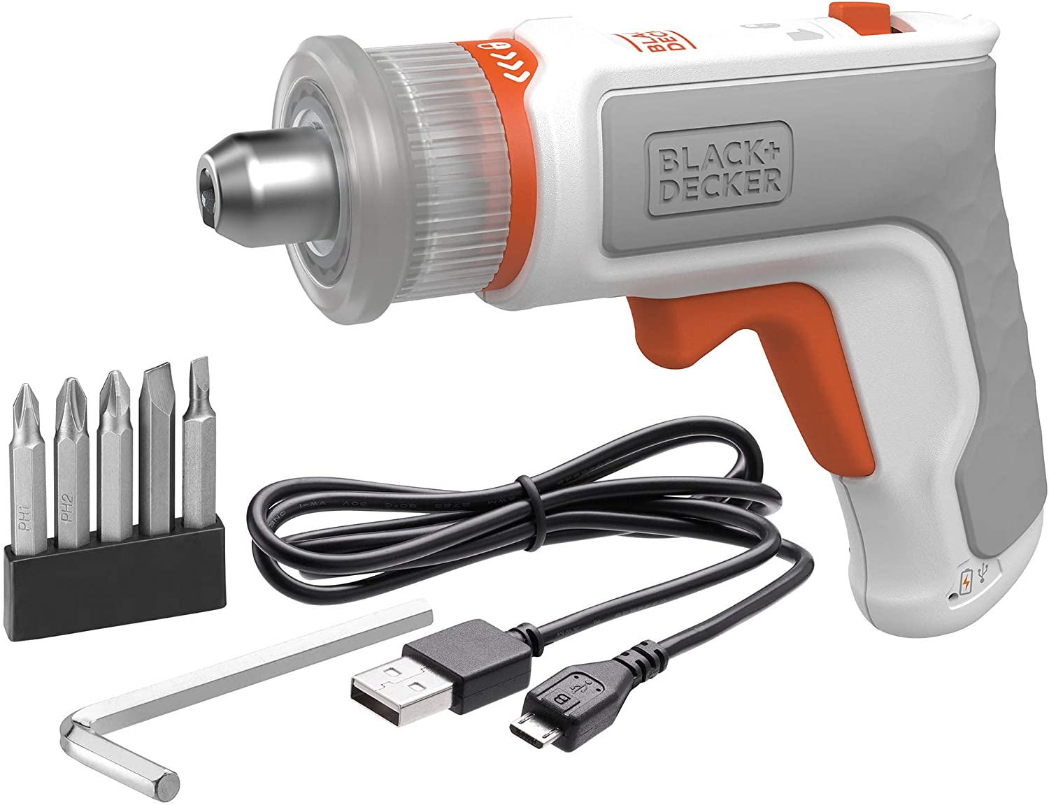 beyond by BLACK+DECKER 4V MAX Cordless Screwdriver, Hex, L-Shaped, 2-Inch Assorted Bits (BCRTA601WAPB)