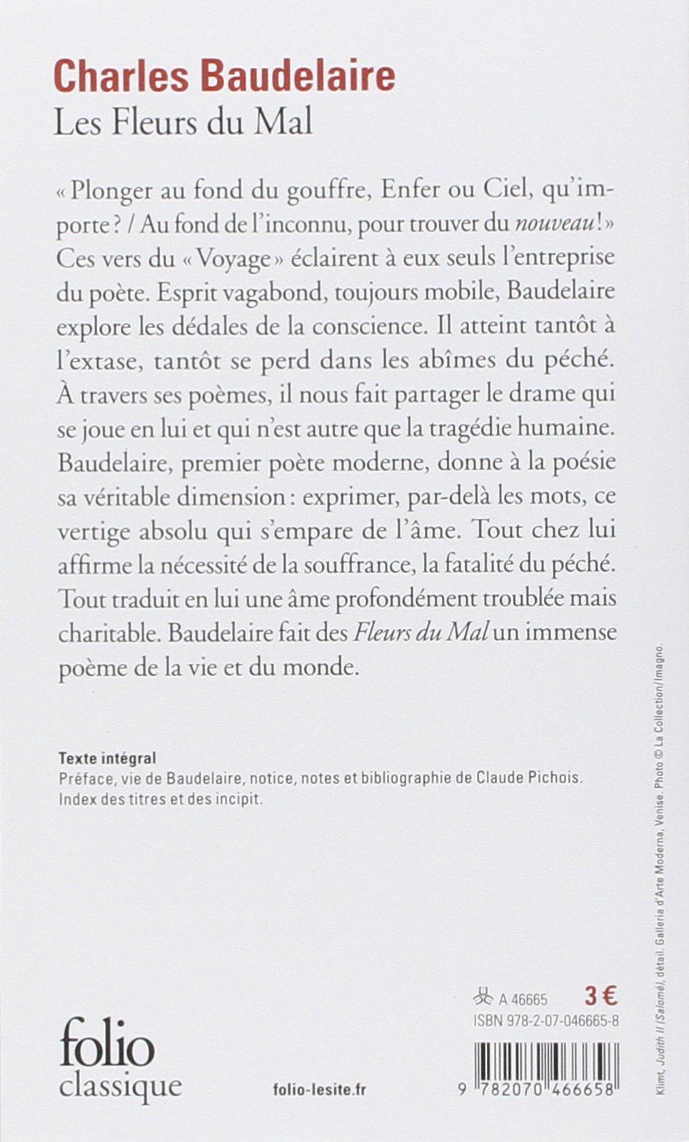Les Fleurs Du Mal Folio Classique Amazones Charles