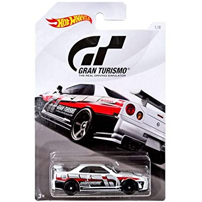 Hot Wheels Nissan Skyline GT-R 2020 Gran Turismo Series #2 White Nissan Skyline GT-R (R34) 1:64 Scale Collectible Die Cast Metal Toy Car Model #1/8: Toys & Games