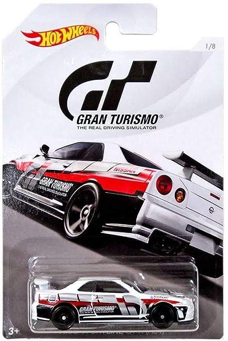 Hot Wheels NISSAN SKYLINE GT-R 2018 GRAN TURISMO Series #2 White NISSAN  SKYLINE GT-R (R34) 1:64 Scale Collectible Die Cast Metal Toy Car Model #1/8