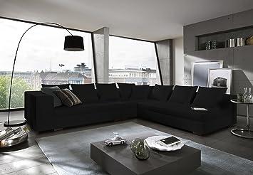 SAM® Design Wohnzimmer Sofa Landschaft Amare in schwarz 325 x 275 cm ...