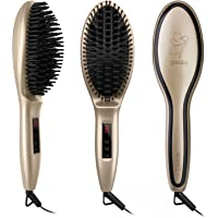 Gisala Metal Ceramic Heater Hair Straightening Brush