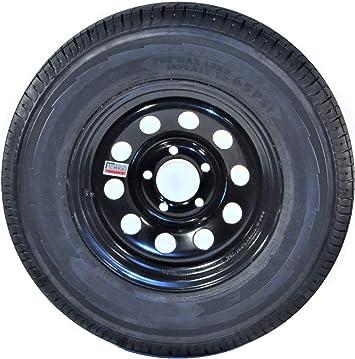 15 NEW TRAILER WHEEL RIM 5X4.5 BLACK MODULAR 205//75D15 Tire Bias