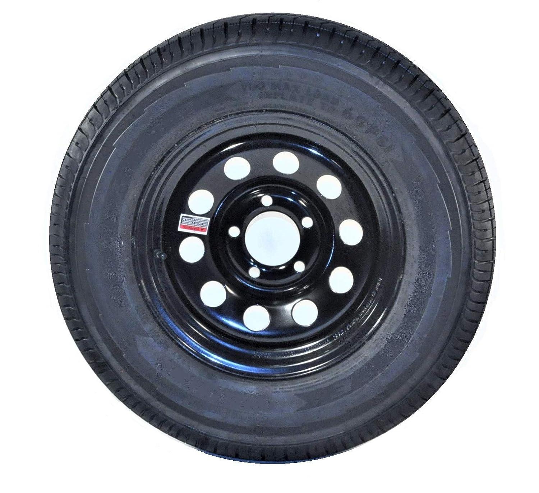 2-Pack Radial Trailer Tire Rim ST185//80R13 Load C 5-4.5 Black Modular 3.19CB