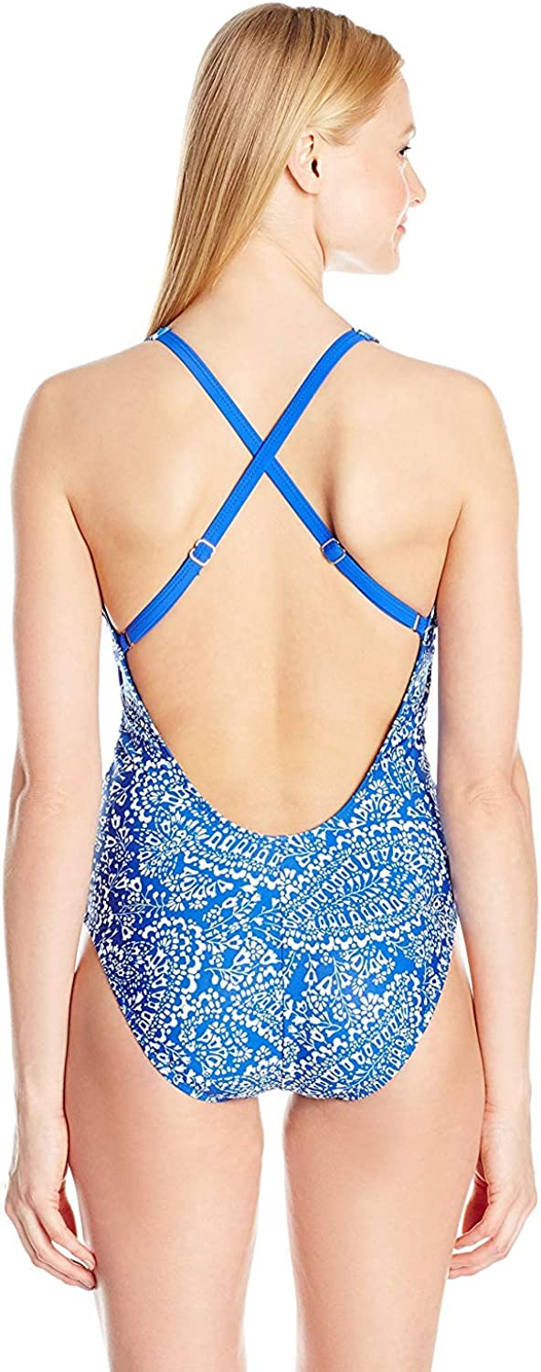 Nautica Womens Cottage Paisley Soft Cup One Piece Swimsuit