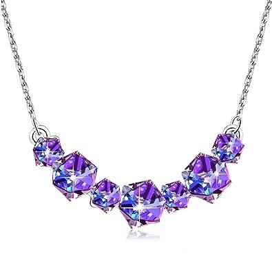 Swarovski Women Base Metal Purple Crystal 605705f