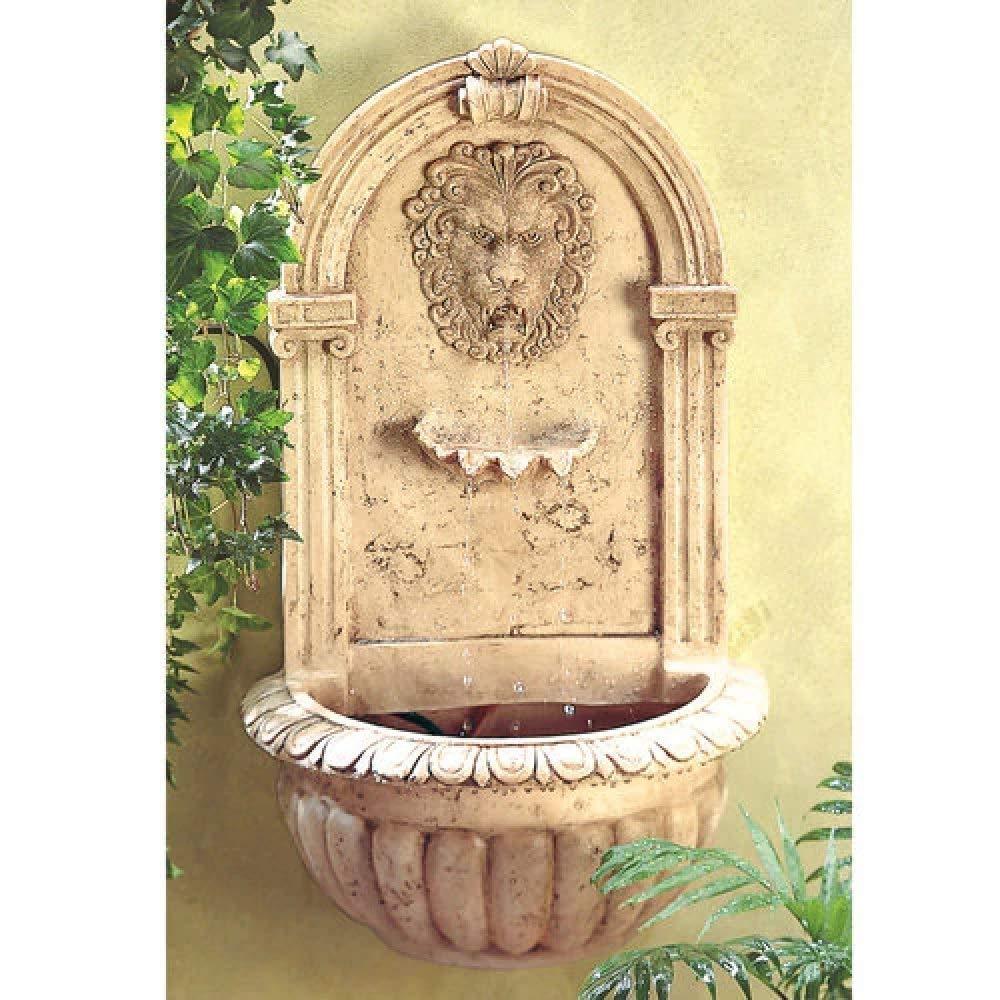 BESTChoiceForYou Look Regal Lion S Head Stone Wall Fountain Classic