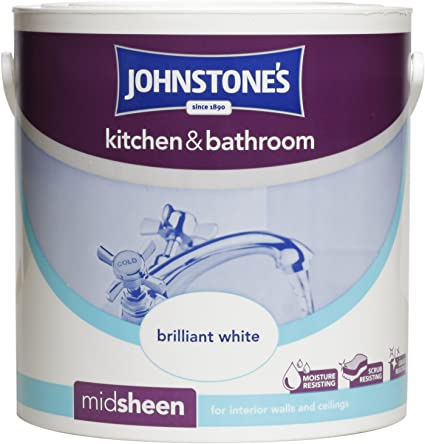 Awe Inspiring Johnstones Kitchen And Bathroom 2 5 Litre Brilliant White Interior Design Ideas Gresisoteloinfo