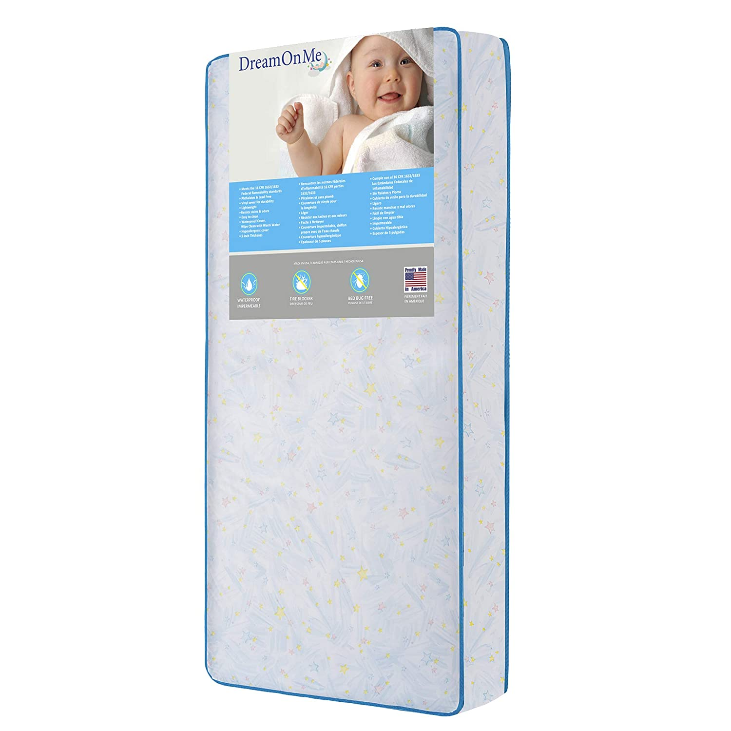 117 Coil Mattress Dream On Me Crib and Toddler Twinkle Star