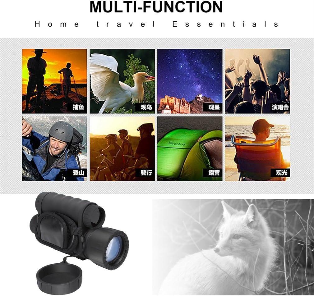 Monocular de visi/ón nocturna digital HD 5 MP de 6x50 mm con LCD TFT de 1,5 pulgadas y funci/ón de c/ámara y videoc/ámara para observaci/ón nocturna