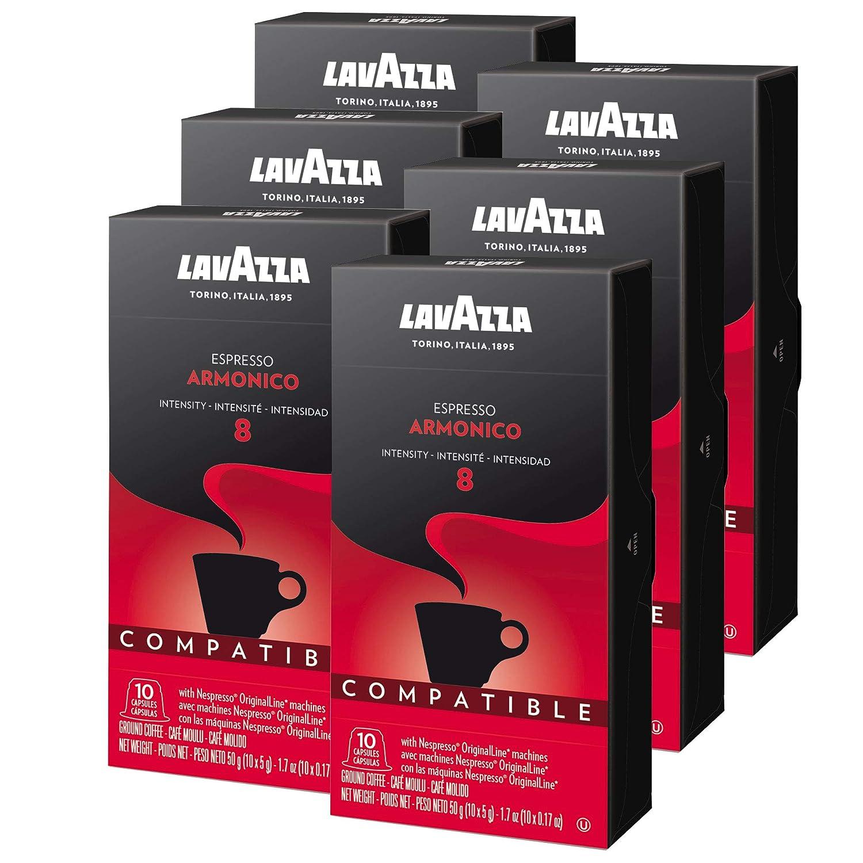 Lavazza Armonico Dark Roast Coffee Capsules Compatible with Nespresso® Original* Machines (Pack of 60)