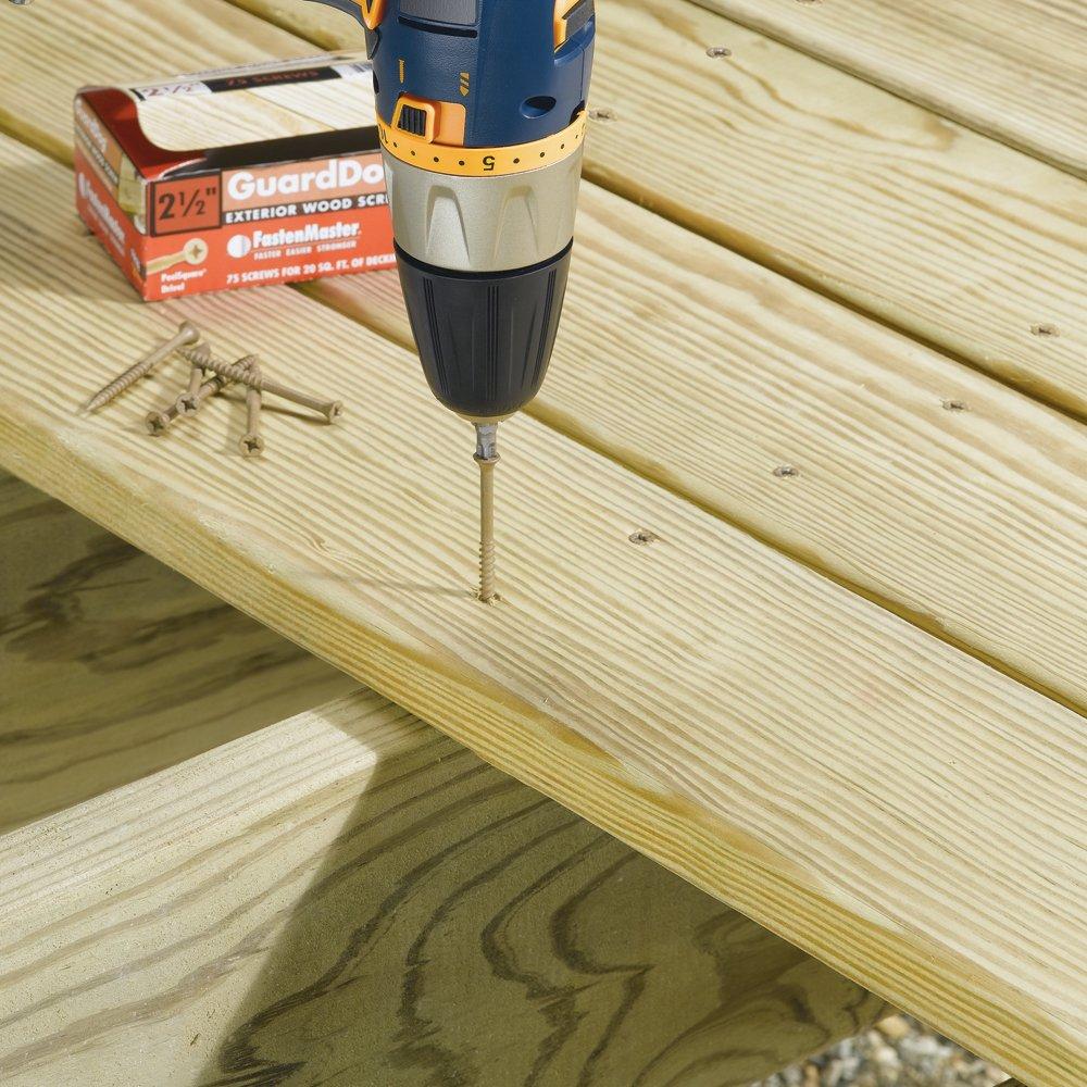 FastenMaster FMGD312-350 GuardDog Exterior Wood Screw, Tan, 3-1/2-Inch, 350-Pack