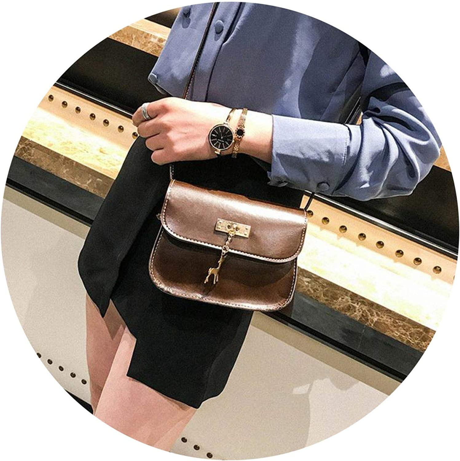 test s PU Leather Hasp Crossbody Bag small Deer Shoulder Bags Purse
