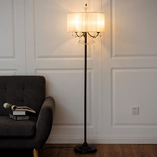 Safstar Elegant Sheer Shade Floor Lamp 61 Inch Height