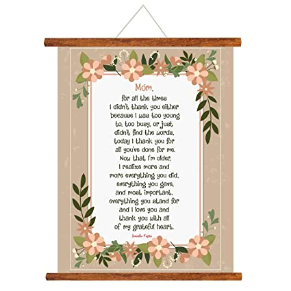 Buy YaYa Cafe Mothers Day Greeting Cards Thank You Mom Happy Scroll Card For Wall Hanging Decor