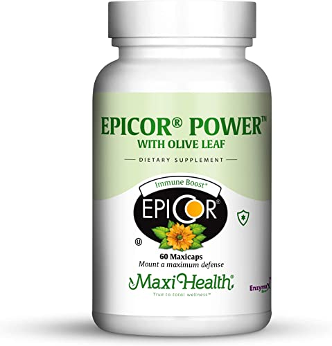 Epicor Power by Maxi-Health Epicor with Olive Leaf Extract – Processed Brewer S Yeast – 60 Vegetarian Capsules – Kosher