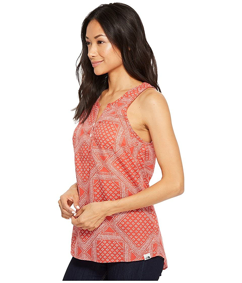 61f96023c The North Face Barilles Tank Top Sunbaked Red Bandana Print Women's ...