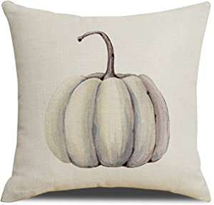 RUOAR Autumn Decorations Pumpkin Pillow Covers Fall Decor Cotton Linen Thanksgiving Throw Pillow Covers Cushion Cover 18 X 18