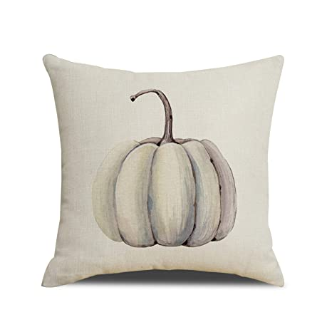 Ruoar Spring Sale Autumn Decorations Pumpkin Pillow Covers Fall Decor Cotton Linen Thanksgiving Throw Pillow Covers Cushion Cover 18 X 18
