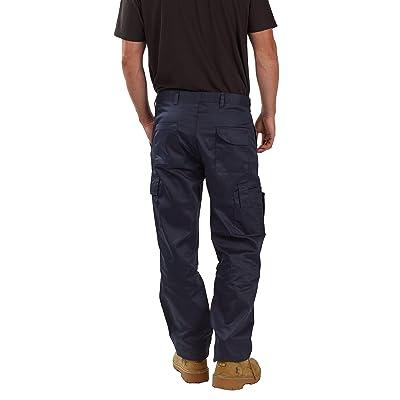 SITE KING Mens Cargo Combat Tracksuit Jogging Bottoms Knee Pad Pockets Grey XXL