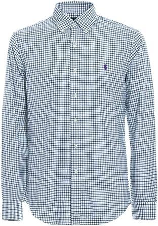 Ralph Lauren Camisa Polo Cuadros Verde/Blanco XL Evergreen ...