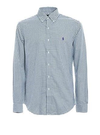 Ralph Lauren Camisa Polo Cuadros Verde/Blanco XL Evergreen/White ...