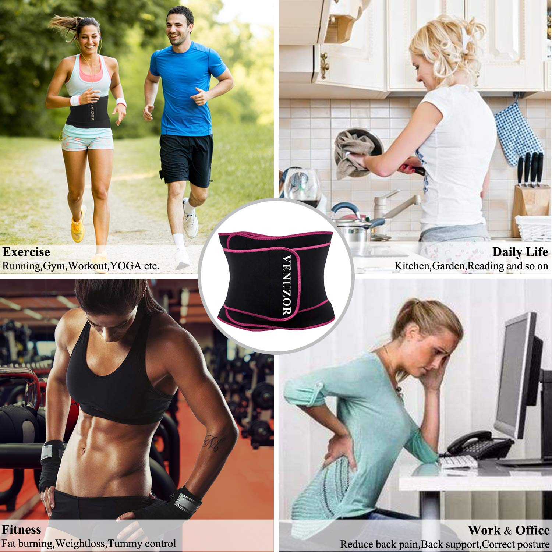 Waist Trimmer Slimming Belt VENUZOR Waist Trainer Belt for Women Sport Girdle Weight Loss