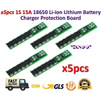 TECNOIOT 5pcs 1S 15A 3.7V Li-Ion Lithium Lion 18650 Battery Protection Board BMS PCM