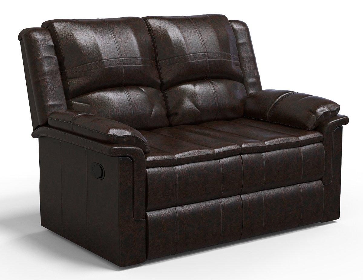 Forzza Ryan 2 Seater Recliner Sofa Charcoal PU