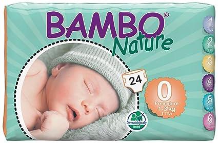 Bambo Nature prematuro Eco Pañales, tamaño 0, 24 piezas