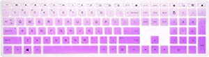 Keyboard Cover Compatible with HP Pavilion 27-xa0013w/xa0014/xa0080/xa0050/0010Na/0370Nd/0076Hk, Pavilion 24-xa0002A/xa0040/0300Nd/0051Hk All in One PC - Gradual Purple