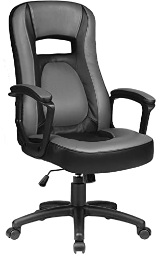 ComHoma Office Gaming Chair High Back Mid Back Ergonomic Office Chair Height Adjustable Home Office Desk Chair Swivel Gray