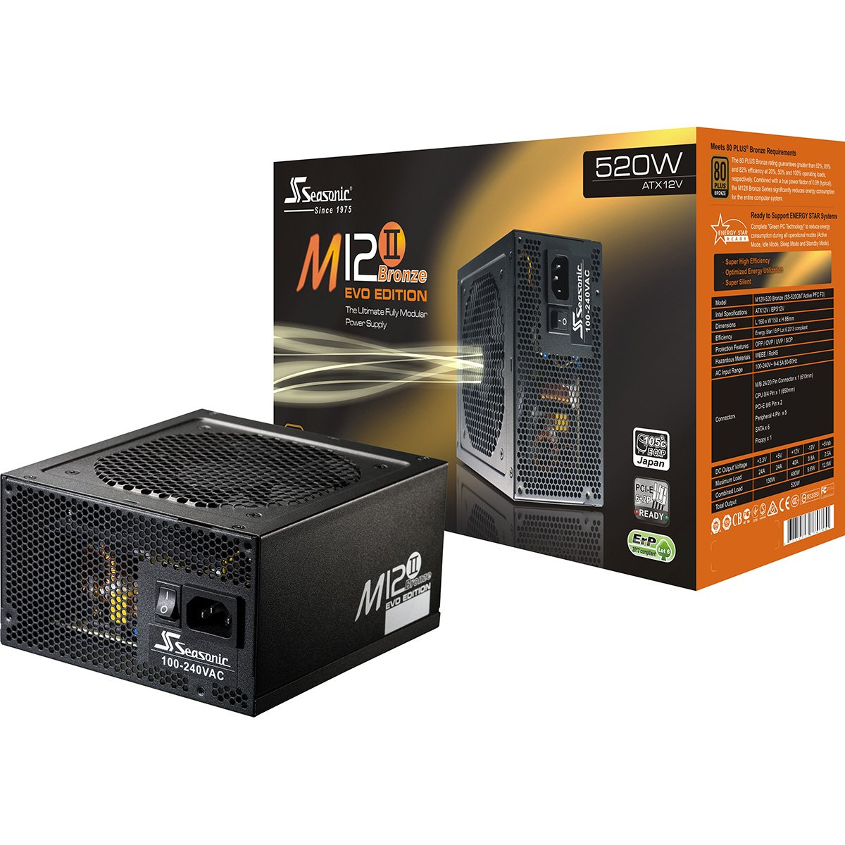 Buy Seasonic M12ii Evo Series 520w Modular Power Supply Guitar Electronics Wiring Overclockers Australia Forums With 80 Bronze Certification Ss 520gm2 Online At Low Prices In India
