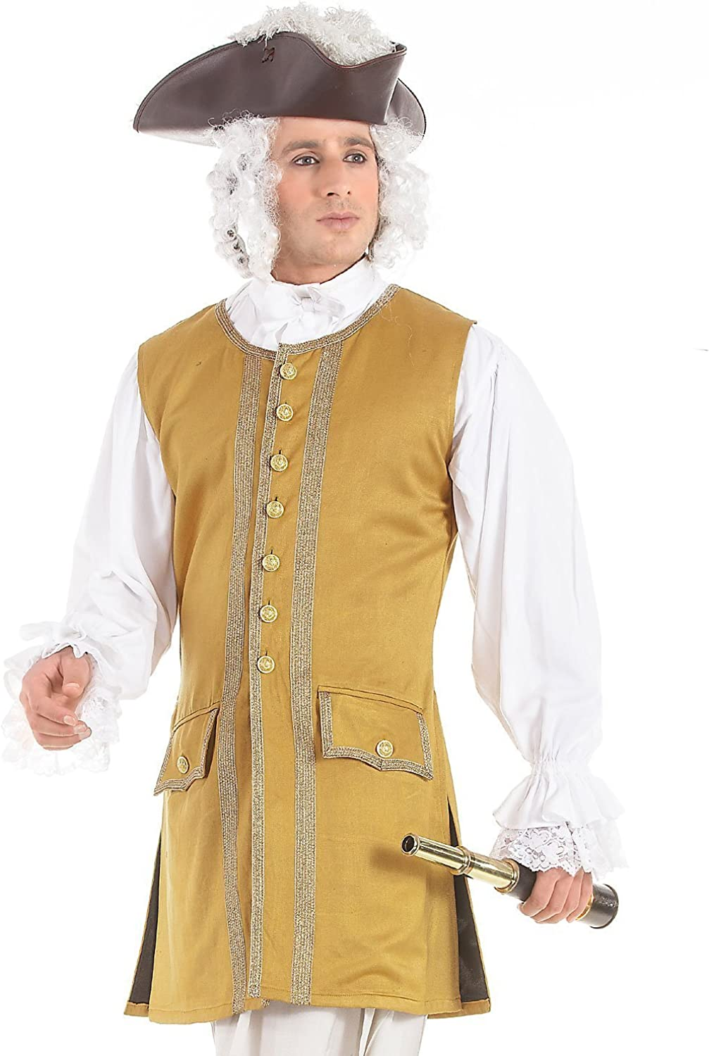 Commodore Pirate Renaissance Medieval Mens Costume Vest
