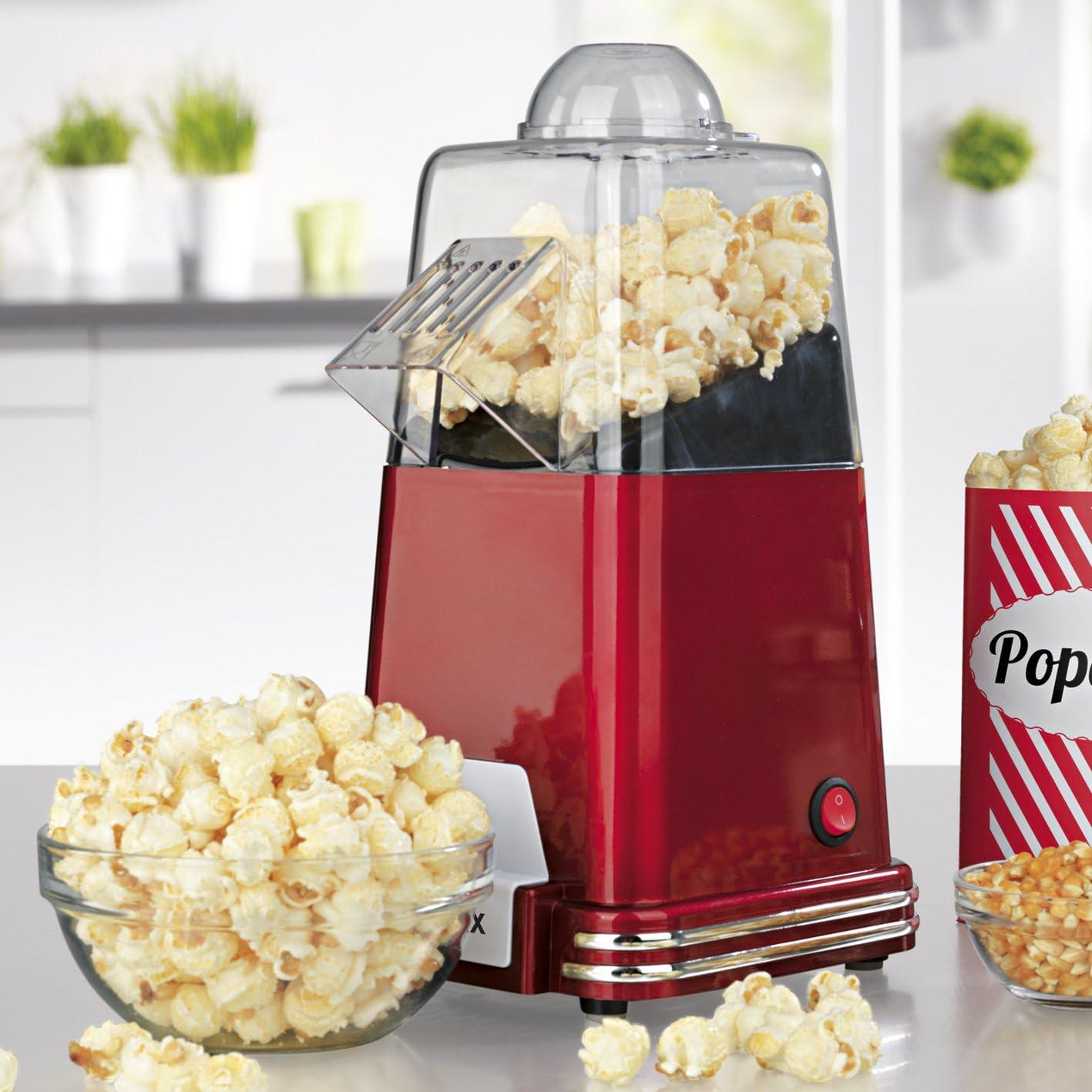 Gourmet Maxx cafetera Popcorn 1100 W en diseño retro nostalgia (Préparation par circulación del aire caliente – sin aceite, extra rápido en, Solo 2 – 4 minutos, AU CHOIX Popcorn sucré o Salé): Amazon.es: Hogar