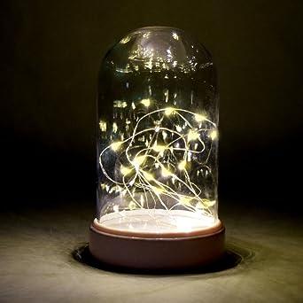 218 Led Lichterkette Tischdeko Kaseglocke Beleuchtet Mit 20 Micro