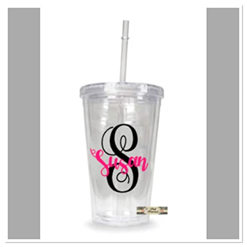 5f6a756ea4c Monogram Tumbler, Personalized Cup, Mother's Day Gift, Teacher Appreciation  Gift, Girl Gift, Beach Cup, Wedding Favor, Birthday Favor, Any Color ...