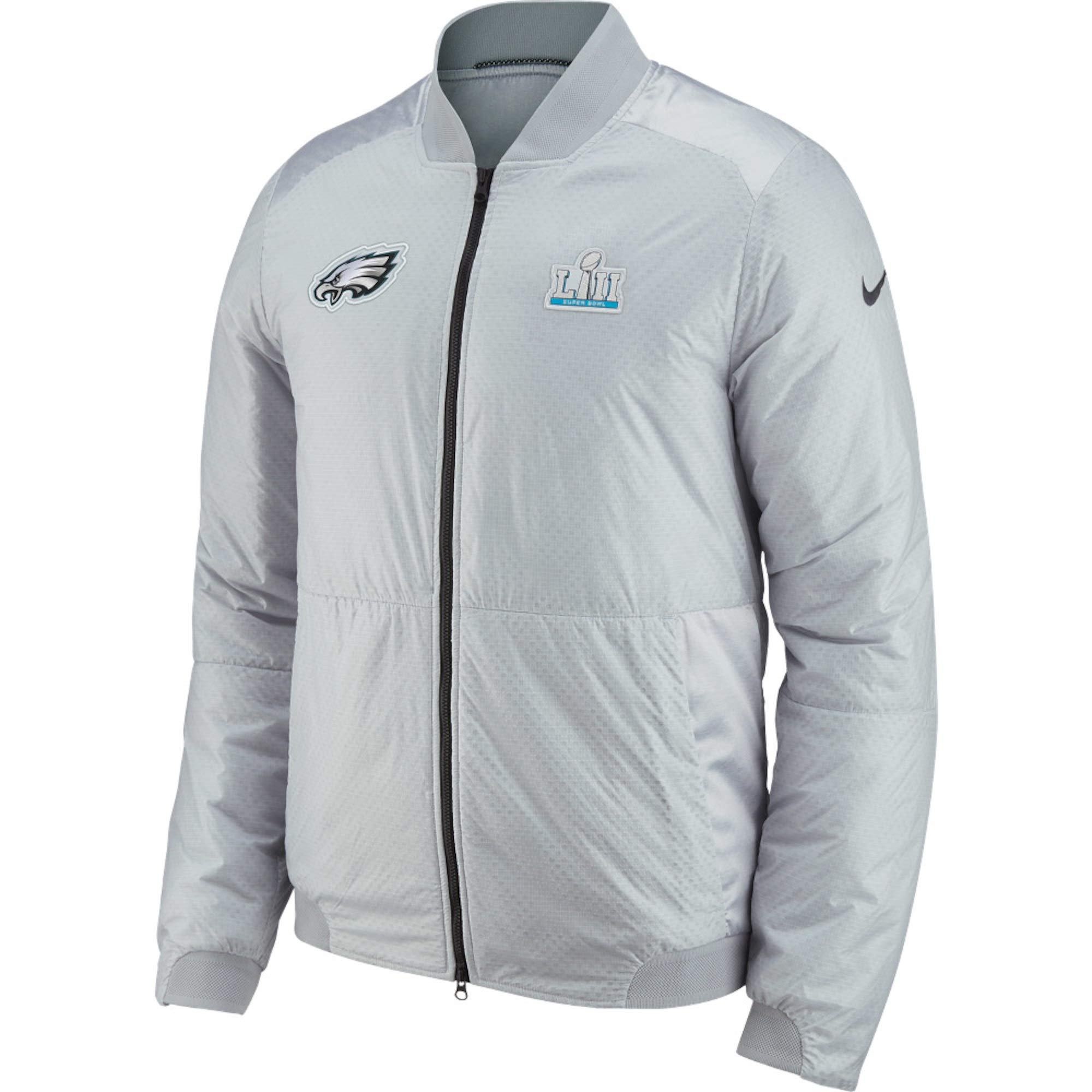 Nike Philadelphia Eagles Platinum Super Bowl LII Media Night Bomber Full-Zip  Jacket - Men s 6802e72bd