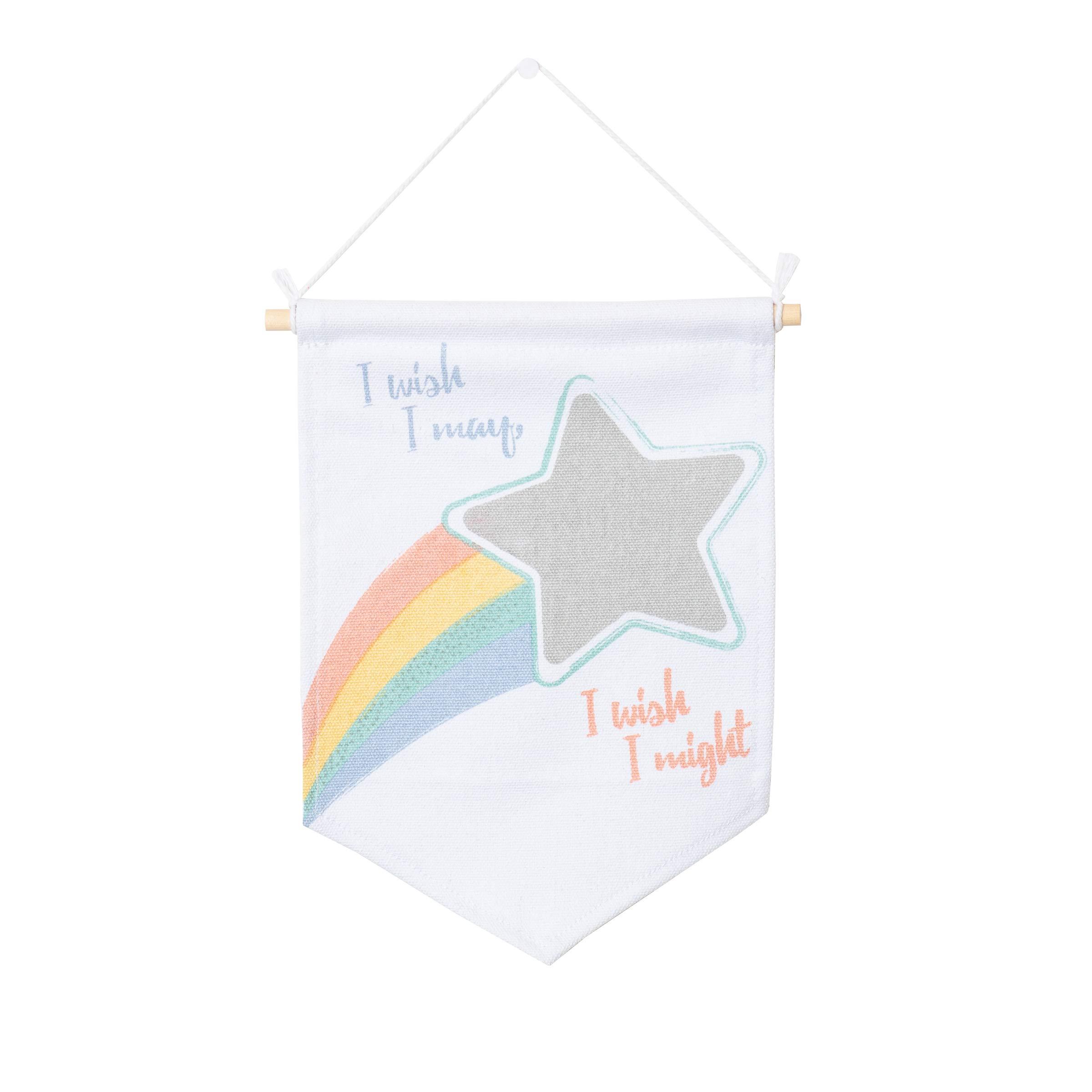lulujo Baby Wall Art Banner, I Wish I May