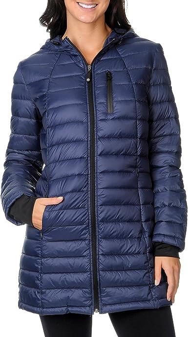 HALIFAX TRADERS Black Charcoal Grey Puffer DOWN Jacket Coat NEW Womens Sz S