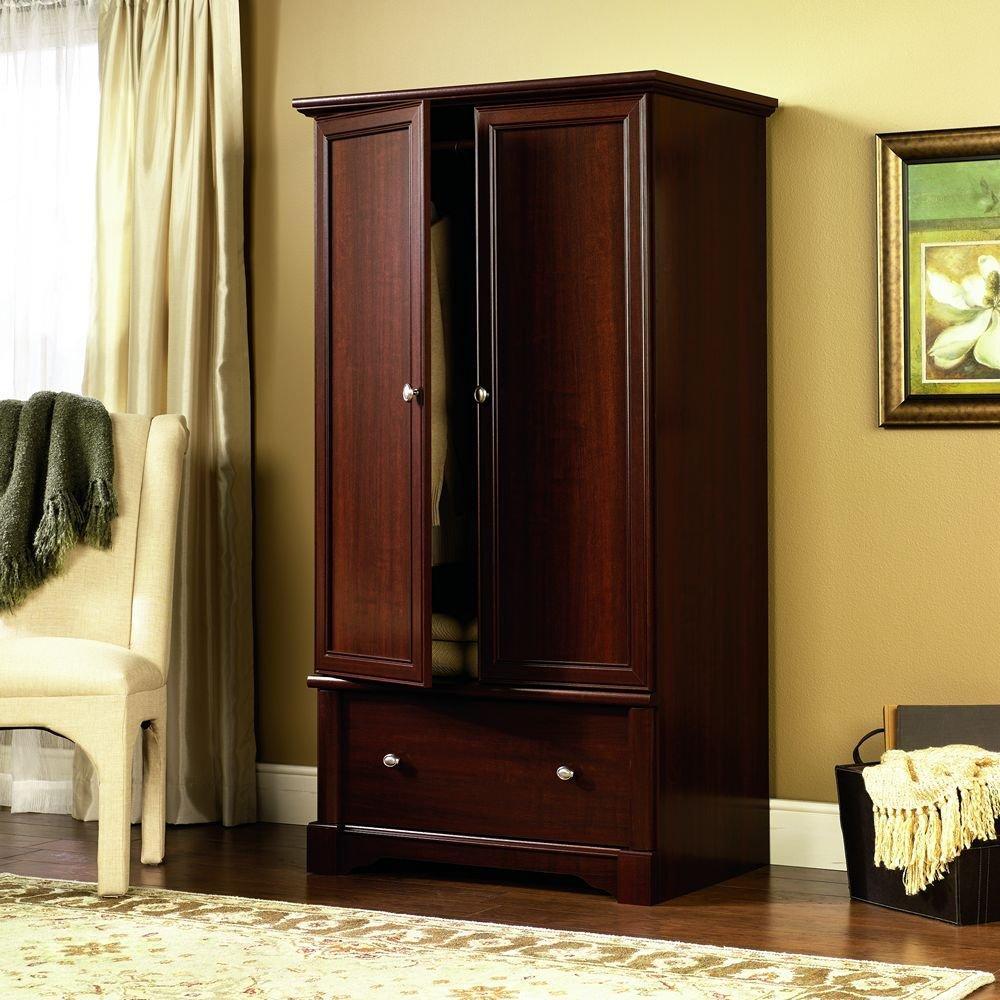 sauder palladia armoire cherry amazonca home  kitchen -