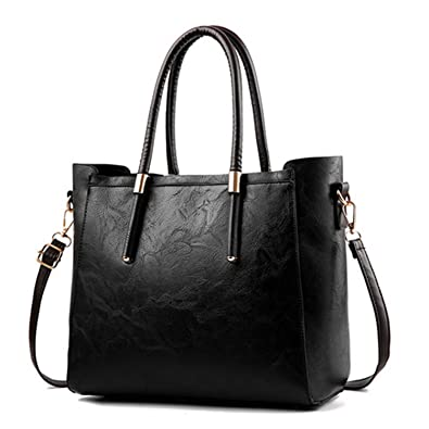 Amazon.com: Pajamasea WomenS Tote Hand Top-Handle Bags New Large Capacity Women Designer Big Office Bags Black About: Shoes