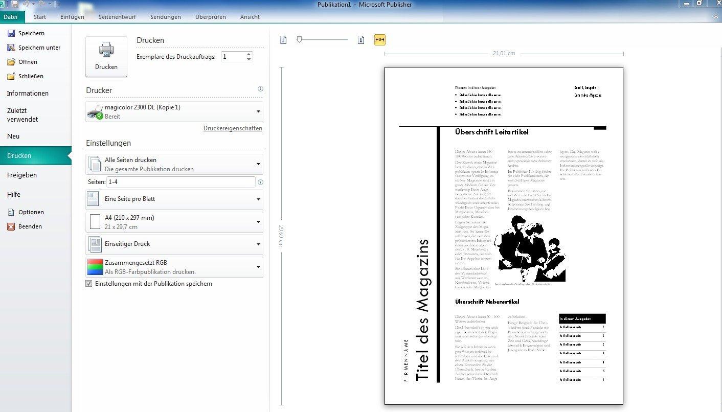 Microsoft Publisher 2010 - 1PC/1User: Amazon.de: Software
