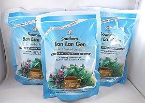 3 Pack! Ban LAN Gen Chong Ji, Instant Herbal Beverage, Tea, Drink, 3 x 20 Servings