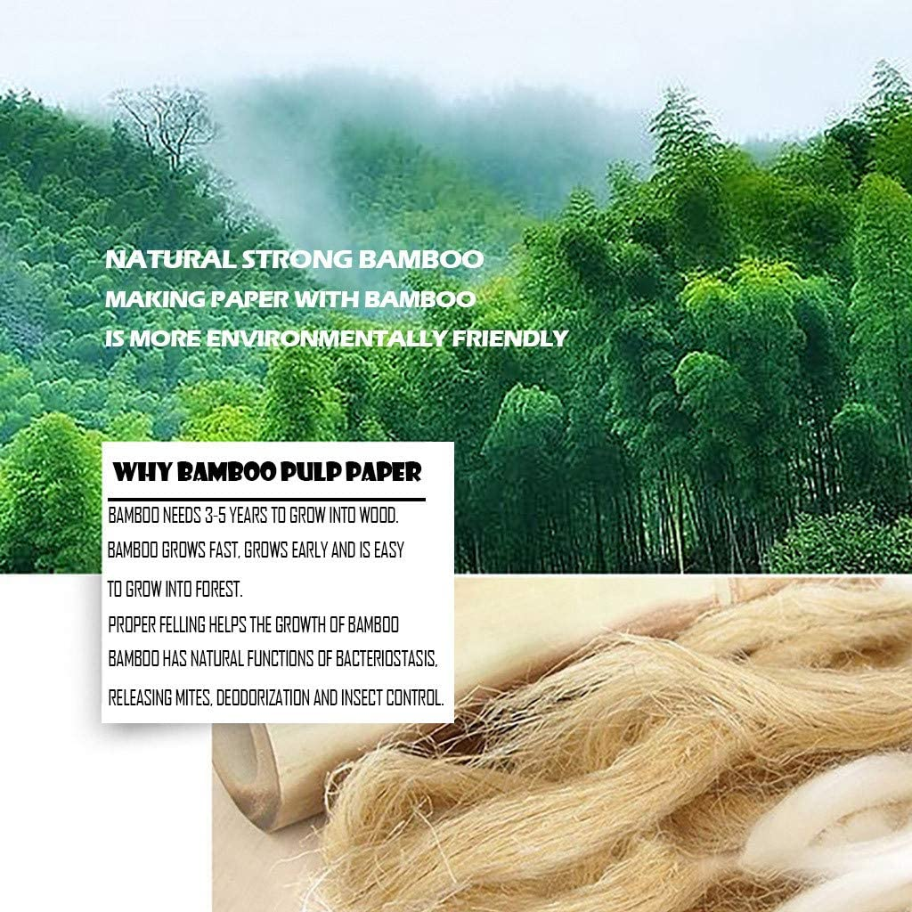 GoodLock 5 Packs of Bamboo Pulp Pumping Toilet Paper TM Available for Mother and Babies Towels Soft White Household Three-Layer Skin-Friendly Tissue Clean Hand Tissue Napkin