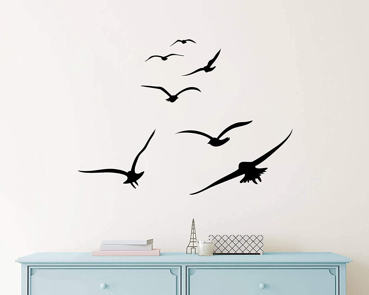 Nursery Wall Decals Y20 Office Decor Home Decor Wall Stickers Dorm Decals Flying Birds Wall Decals White Birds Vinyl Decals Modern Wall Decals for Kids Room Bedroom Living Room